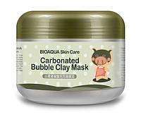 Маска BioAqua очищающая пузырьковая кислородная для лица с глиной 100 гр 0028, КОД: 157885
