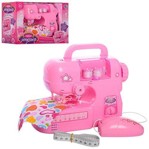 Швейная машинка игрушечная на батарейках шьет