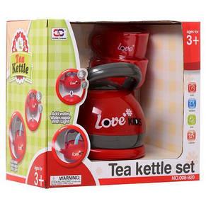 Чайник детский игрушечный 15см, чашки 2шт, звук, свет, фото 2