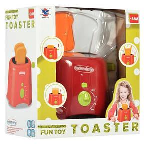 Тостер детский игровой 14см, звук, свет, на бат-ке, фото 3