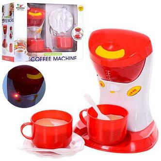 Кофеварка детская игрушечная 16см, звук, свет, посуда, фото 2