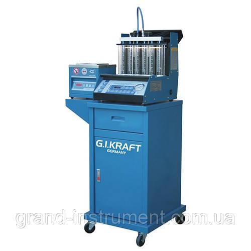 Установка для диагностики и чистки форсунок (6 форсунок, тележка, ультразвуковая ванна) G.I. KRAFT GI19112