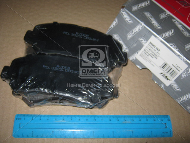 Колодка тормозная дисковая NISSAN QASHQAI/X-TRAIL 07- передний (RIDER) RD.3323.DB3467