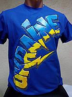"""Футболка """"Ukraine"""" синяя, фото 1"""