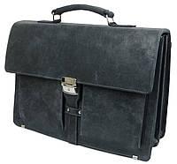 Мужской деловой портфель из натуральной кожи A-art TSM1401-1 серый