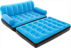 Надувной диван трансформер Bestway 67356 с насосом голубой