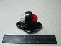 BH. Лампа габаритная- прямая короткая 12/24V овальная,бело-красная