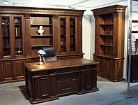 Дубовый кабинет,стол письменный, шкаф в кабинет купить на заказ в Киеве., фото 1