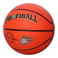 Мяч баскетбольный PROFIBALL VA-0001  размер7,резина,8панелей,рисунок-печать,510г,