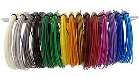 ABS пластик MYRIWELL для 3D ручки 175 мм набор 15 цветов по 5 метров, КОД: 260599