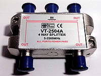 Делитель на 4 - 4WAY SPLITTER VT-2504A 5-2500MHz .