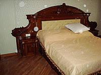 Кровать двуспальная деревянная. Массив дуба