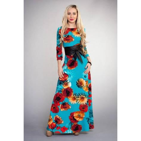 Длинное платье с цветами, фото 2