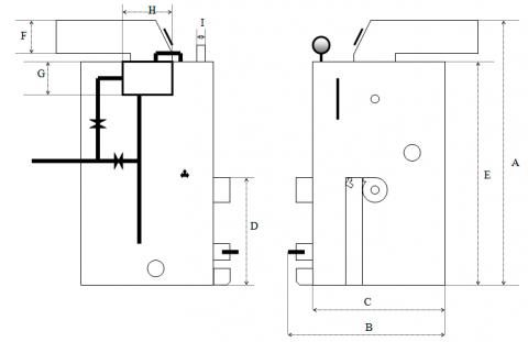 Схема твердотопливного парогенератора Топтермо Идмар