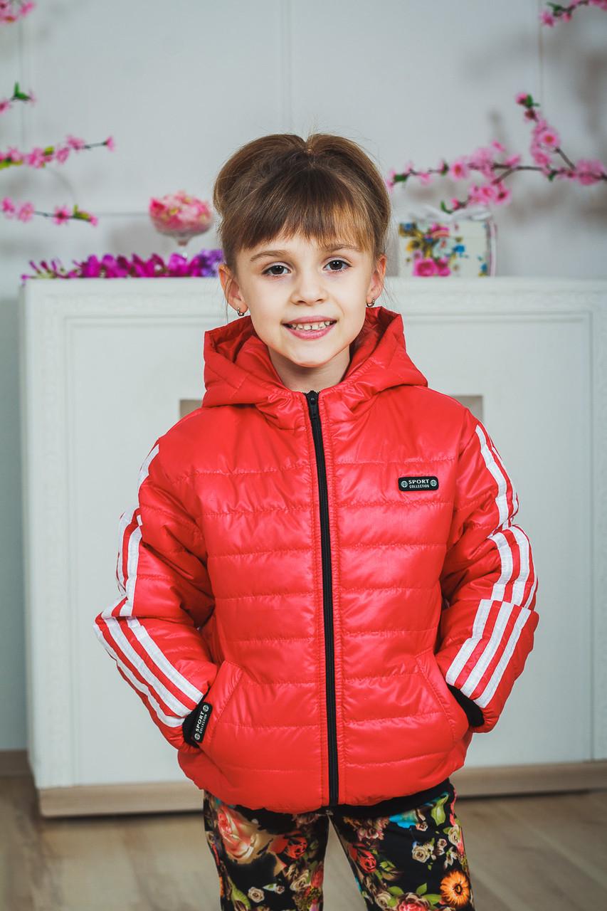 Курточка детская спортивная коралл