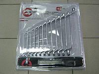 Набор накидных ключей (12ед) 6-32мм Cr-V, покрытие сатин-хром professional (Intertool)