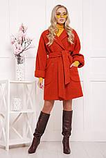 Новинка! шикарное женское демисезонное пальто красного цвета размер 38-40(s-м), фото 2