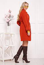 Новинка! шикарное женское демисезонное пальто красного цвета размер 38-40(s-м), фото 3