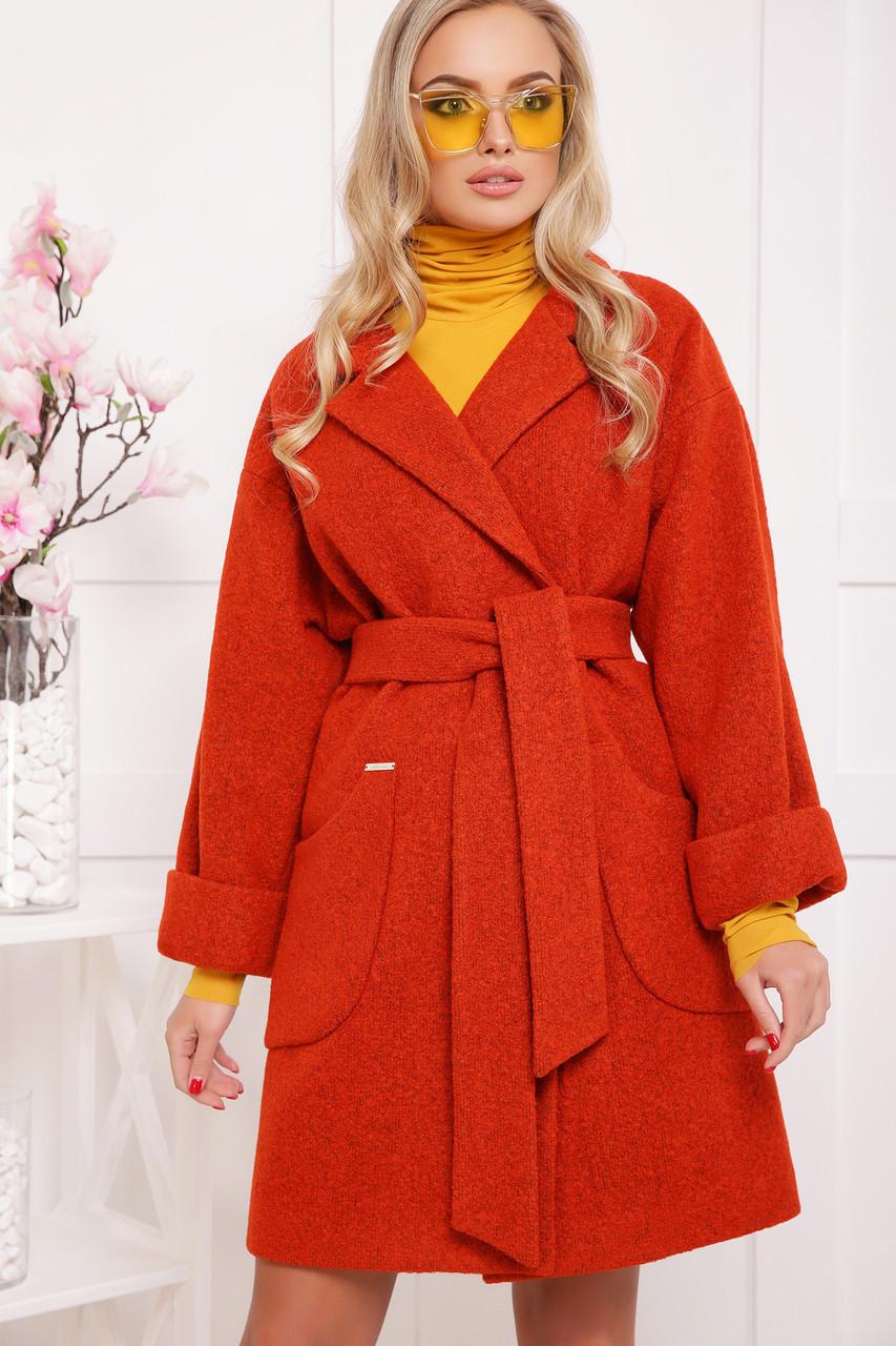 Новинка! шикарное женское демисезонное пальто красного цвета размер 38-40(s-м)