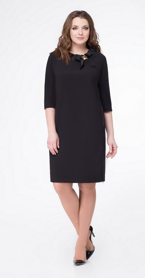 Платье Дали-4262 белорусский трикотаж, черный, 48