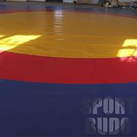 Покрытие для борцовского ковра трёхцветное «Олимпийское» (для самбо, вольной, греко–римской борьбы)