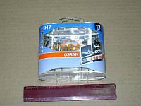 Лампа фарная H7 12V 55W PX26d Silverstar (+50%) Hard DuoPET (2шт) (пр-во OSRAM)