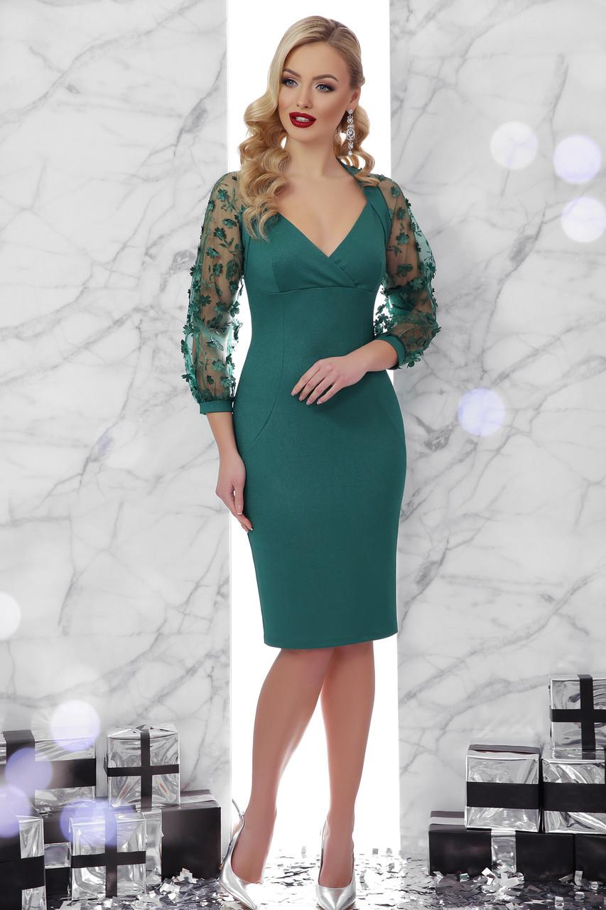 c6b98a16d02a Женское платье изумрудное Флоренция 2 д/р