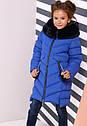 Зимнее пальто на девочку Ясмин с мутоном Тм Nui Very  Размеры 116- 158 , фото 3