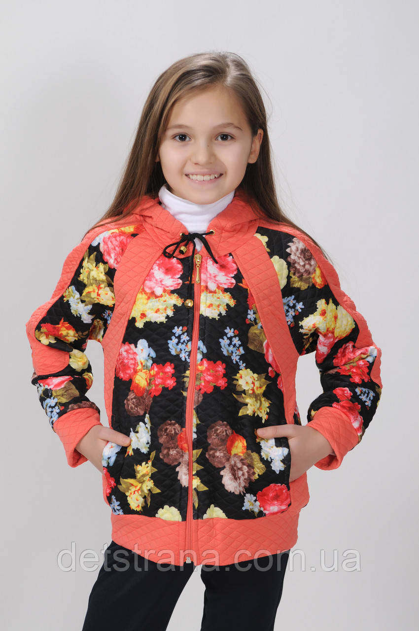 Детская  кофта с капюшоном  для девочки