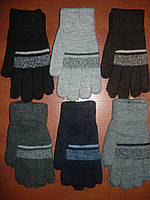 Перчатки подростковые Корона. Двойные. Ассорти. р. L., фото 1
