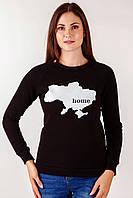 Патриотический женский черный свитшот «Home» , фото 1