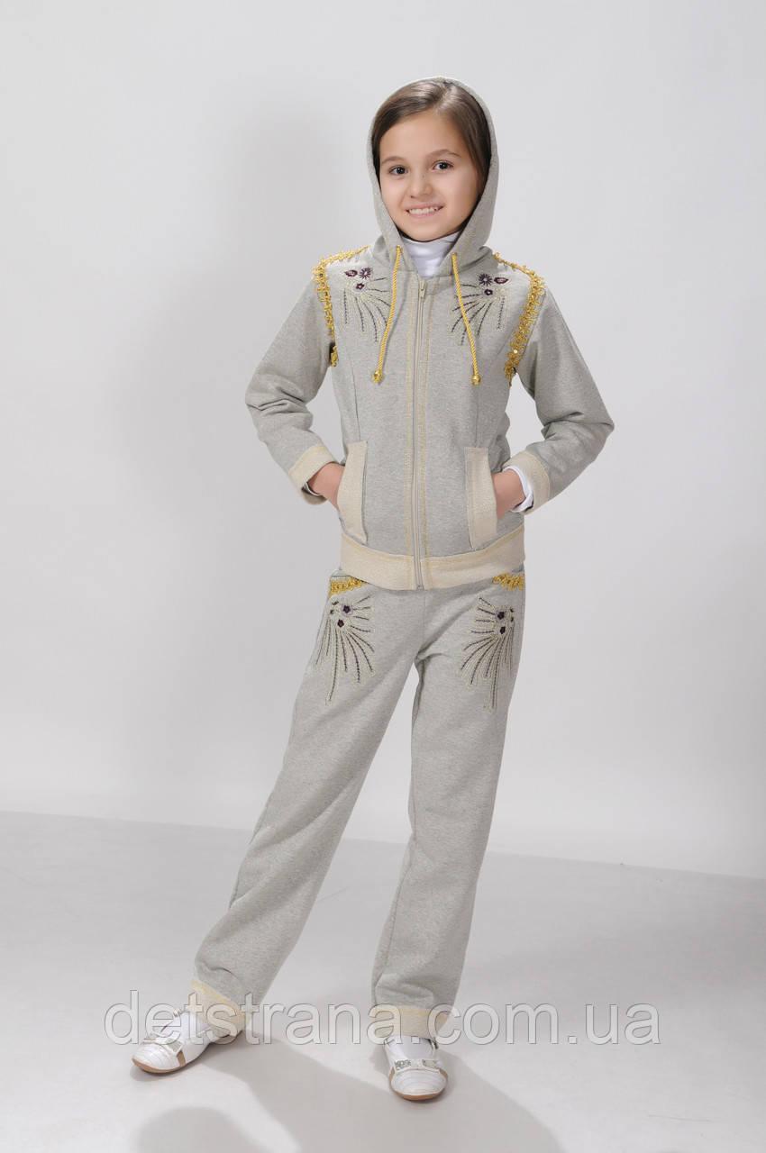 Детский костюм с капюшоном для девочки