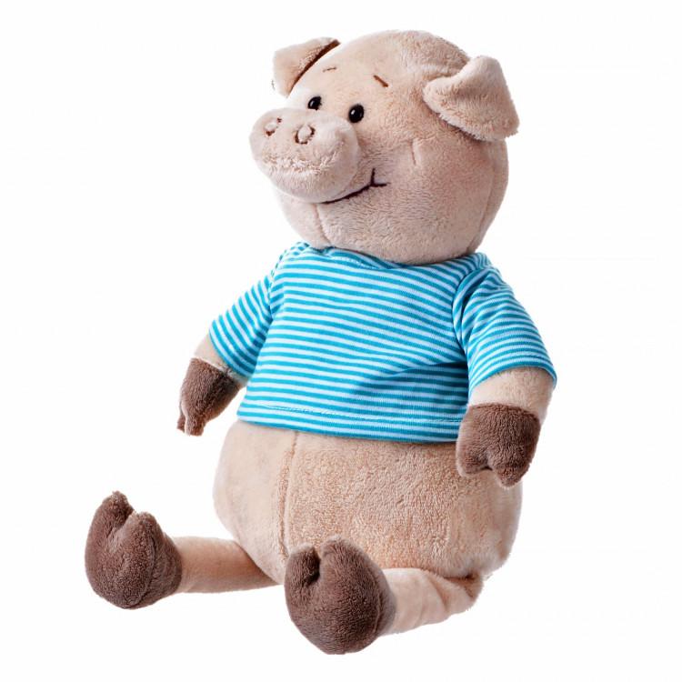 Свинка в голубой тельняшке, 35 см, «Same Toy» (THT715)