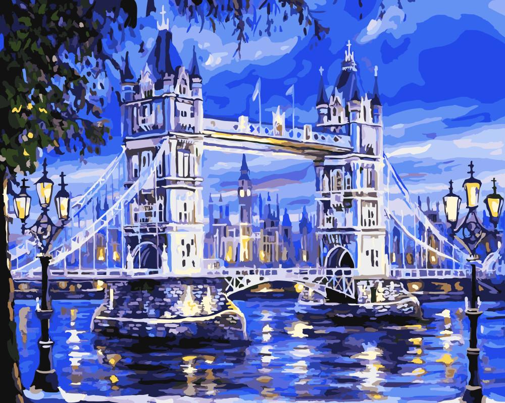"""Картина по номерам """"Тауэрский Мост"""", 40x50 см., Brushme"""