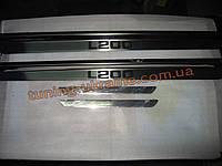 Хром накладки на пороги узкие для Mitsubishi L200 4 2012-2015