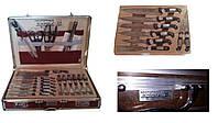 Набор ножей в кожанном чемодане 25 предметов