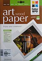 Фотобумага ColorWay А4 матовая, 220 г/м2, 10 л, древесина
