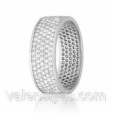 Серебряное кольцо с фианитом КК2Ф/372