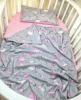 Комплект змінної постелі в овальне ліжечко