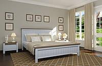 Деревянная кровать Беатрис (ваниль + темный орех)
