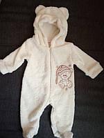 Махровый комбинезон человечек детский теплый  для новорожденного, фото 1