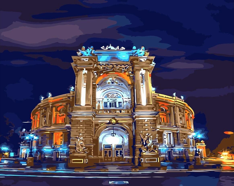 """Картина по номерам """"Оперный театр Одесса"""", 40x50 см., Brushme"""