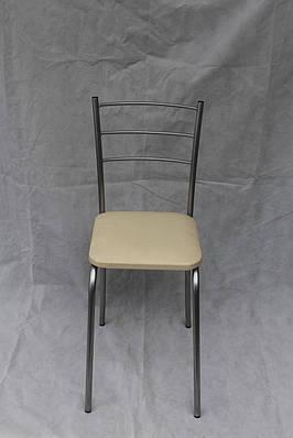 Кухонный стул Marco chrome с белой сидушкой экокожа
