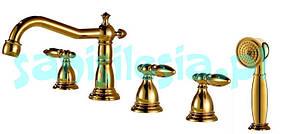 Змішувач для ванни ROYAL РЕТРО золотий колір