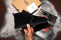 Зимние угги на меху UGG David Beckham Boots Black (реплика А+++ ), фото 1
