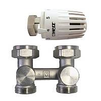 """Термостатичний комплект нижнього підключення прохідний 3/4"""" HERZ Project 1376665"""