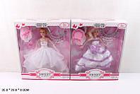 "Кукла типа Барби ""Невеста"" 4 вида, ожерелье,в кор. 35*29*8см /36-2/(F608-C)"