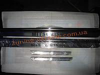Хром накладки на пороги узкие для Mitsubishi Pajero Sport 2005-2008
