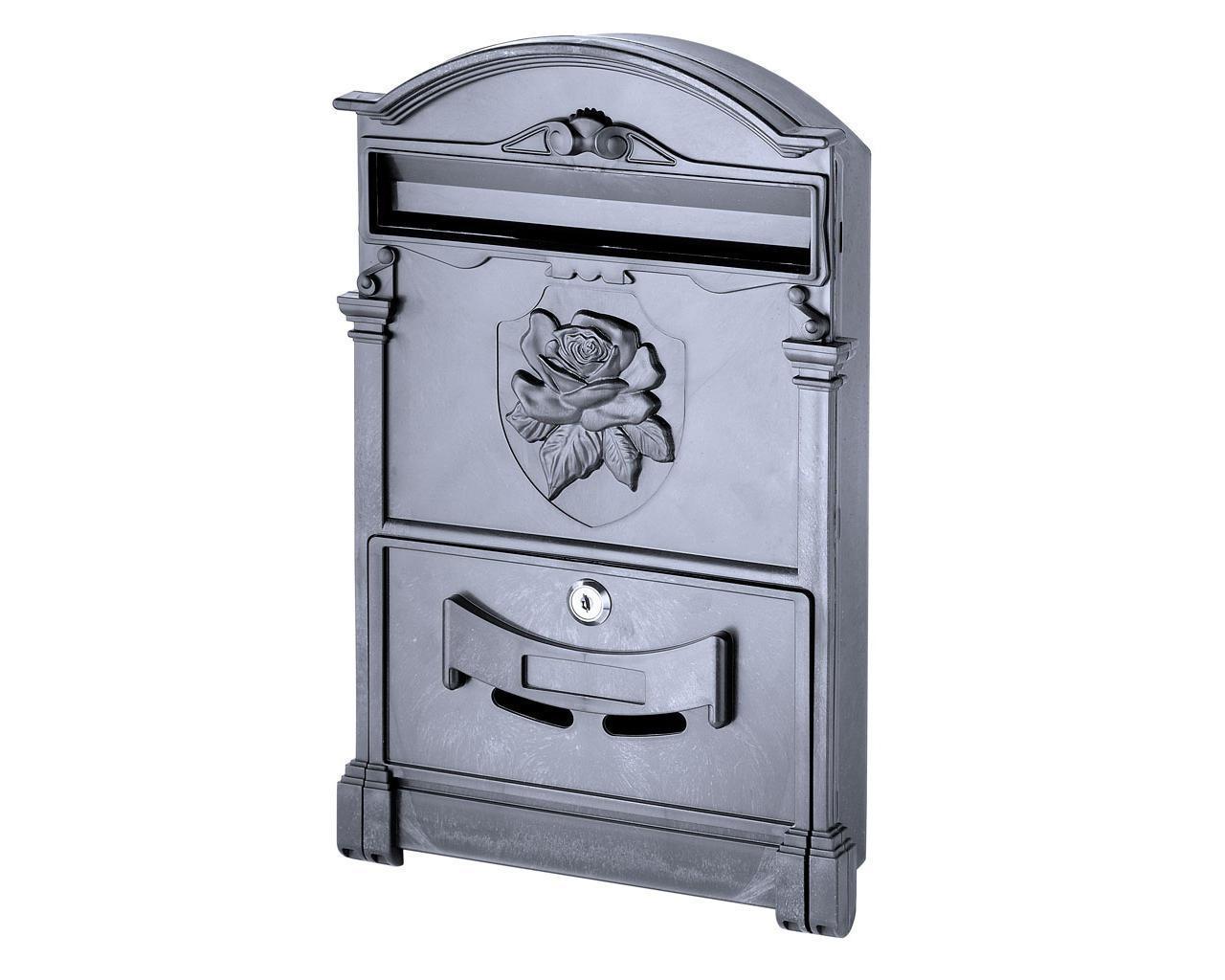 Почтовый ящик VITA цвет чёрный Герб Роза