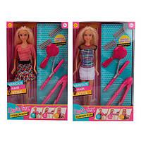 """Кукла """"Defa Lucy"""" набор парикмахера(плойка, расческа), 2вида, в кор. 31*19*5см /24/(8381)"""